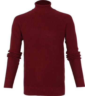 Dstrezzed Cotton Rib Turtleneck Bordeaux