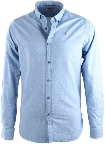 Dstrezzed Hemd Blau punkt