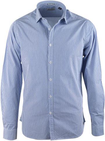 Dstrezzed Hemd Blau Streifen