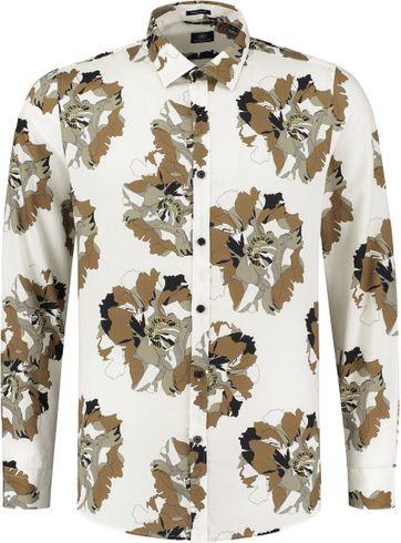Dstrezzed Hemd Camo Flower Off-White