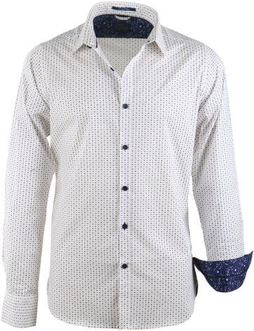 Dstrezzed Hemd Gebrochenes Weiß Motiv