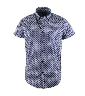 Dstrezzed Hemd Kurzarm Blau