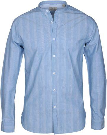 Dstrezzed Hemd Mao Streifen Blau