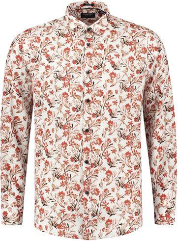 Dstrezzed Hemd Painted Flower Rot