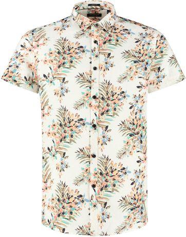 Dstrezzed Hemd Painted Flower Weiß