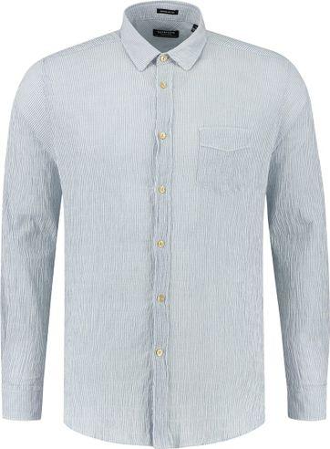 Dstrezzed Hemd Seersucker Strepen Blauw