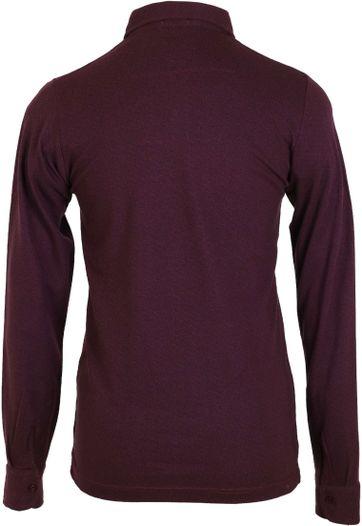 Detail Dstrezzed Longsleeve Poloshirt Bordeaux Print