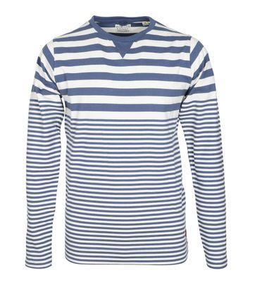 Dstrezzed Longsleeve T-shirt Blau Streifen