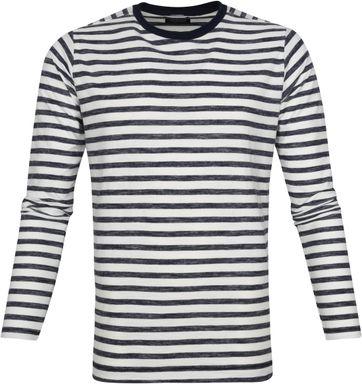 Dstrezzed Longsleeve T-shirt Streifen Navy