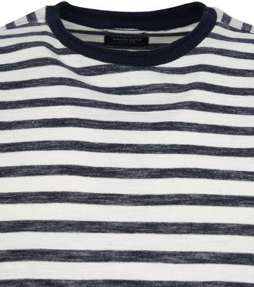 Dstrezzed Longsleeve T-shirt Strepen Donkerblauw