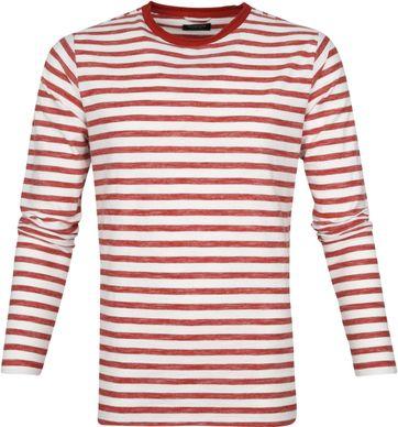Dstrezzed Longsleeve T-shirt Strepen Rood