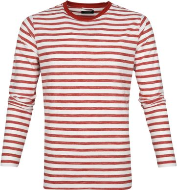 Dstrezzed Longsleeve T-shirt Stripes Red