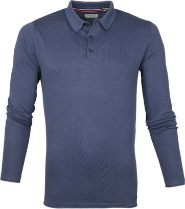 Dstrezzed LS Polo Shirt Steel Blue