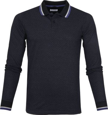 Dstrezzed LS Poloshirt Honey Comb Navy
