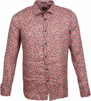 Dstrezzed Overhemd Bloemen Roze