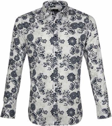 Dstrezzed Overhemd Bloemen Wit