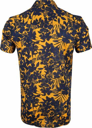 Dstrezzed Overhemd Donkerblauw Geel