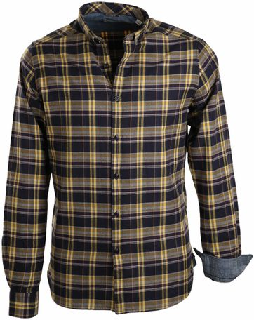Dstrezzed Overhemd Navy Geel Ruit