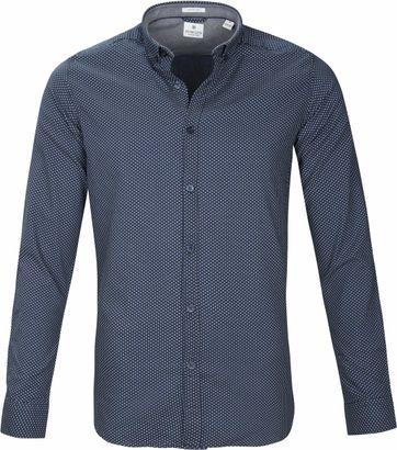 Dstrezzed Overhemd Navy Patroon