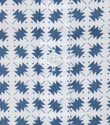 Detail DStrezzed Polo Blauw Dessin