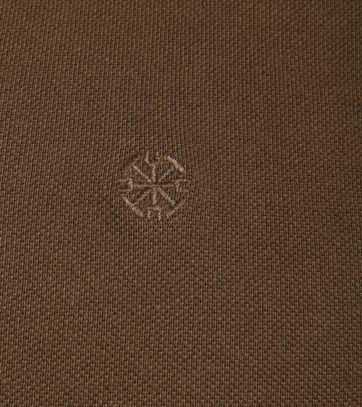 Detail Dstrezzed Polo Bruin