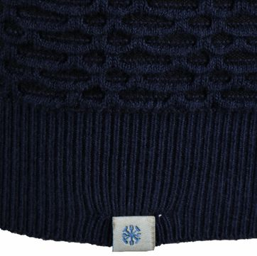 Detail Dstrezzed Polo Jaquard Donkerblauw