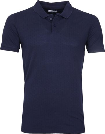 Dstrezzed Polo Polka Dot Navy