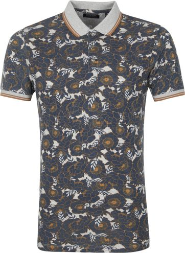 Dstrezzed Polo Shirt Flowers Grey