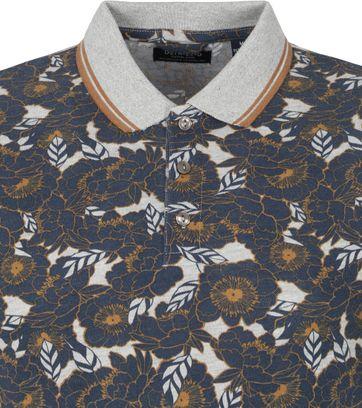 Dstrezzed Polo Shirt Flowers Grey