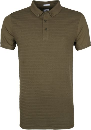 Dstrezzed Polo Shirt Honeycomb Stretch Army