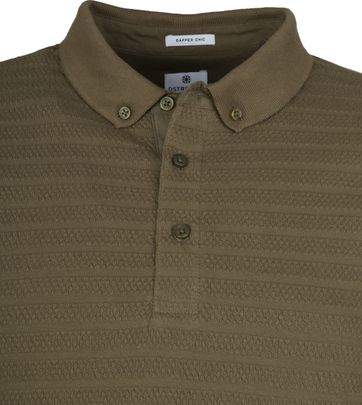 Dstrezzed Polo Shirt Honeycomb Stretch Army