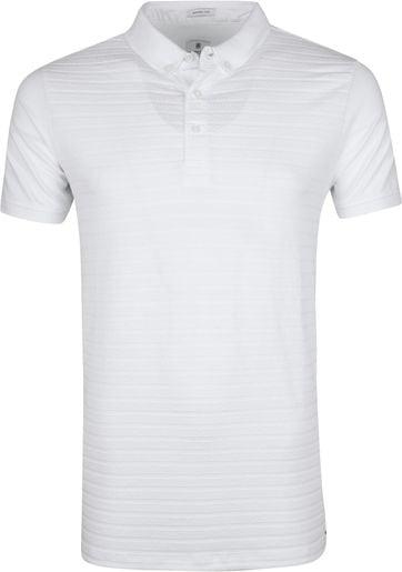 Dstrezzed Polo Shirt Honeycomb Stretch White