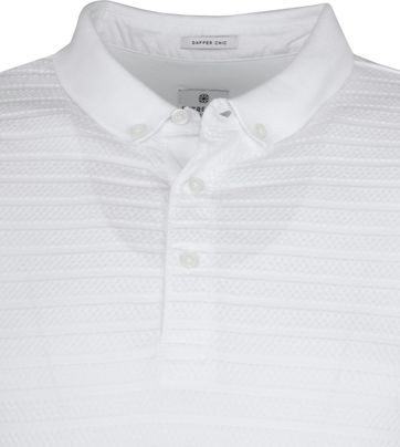 Dstrezzed Polo Shirt Honeycomb Stretch White