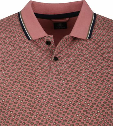 Dstrezzed Polo Shirt Old Pink Pattern