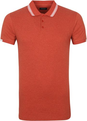 Dstrezzed Polo Shirt Popcorn Melange Red