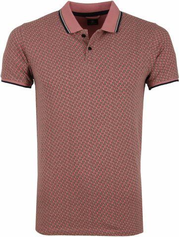 Dstrezzed Poloshirt Altes Rosa Muster