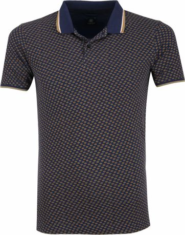 Dstrezzed Poloshirt Dark Blue Pattern