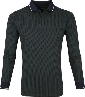 Dstrezzed Poloshirt Graphic Pique Dark Green