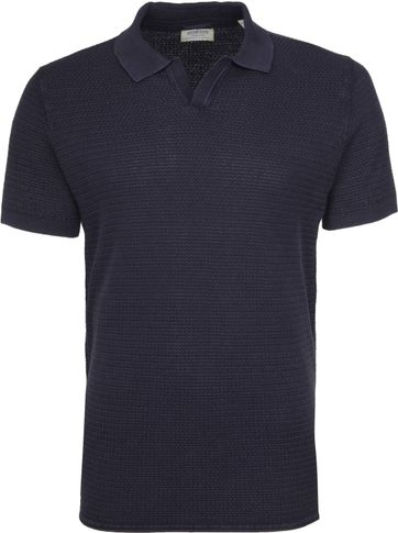 Dstrezzed Poloshirt Structure Navy