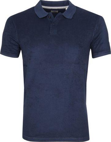 Dstrezzed Poloshirt Towelling Dunkelblau
