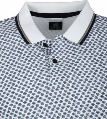 Dstrezzed Poloshirt White Pattern