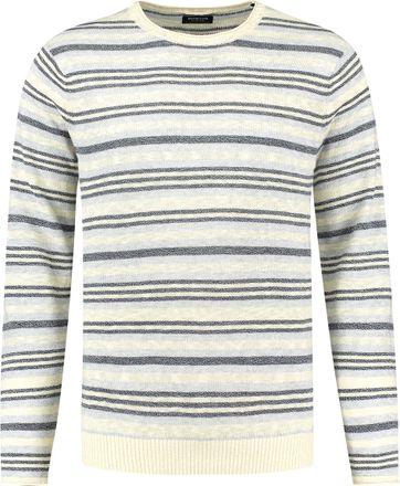 Dstrezzed Pullover Streifen Blau