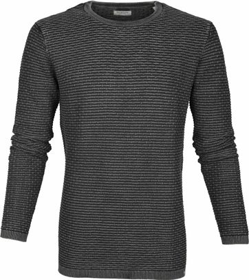 Dstrezzed Pullover Structure Dark Grey
