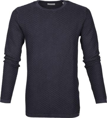 Dstrezzed Pullover Structure Navy