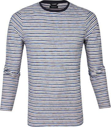 Dstrezzed Relief Streifen Pullover Blau