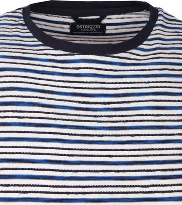 Dstrezzed Relief Stripes Pullover Blue