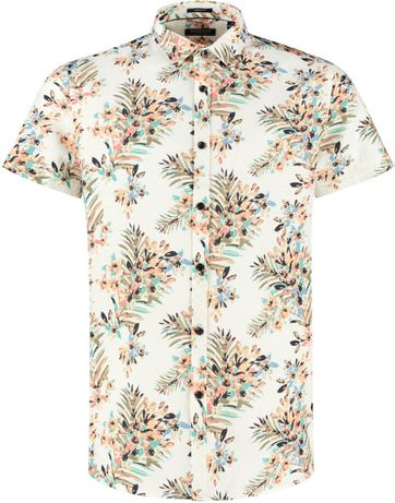 Dstrezzed Shirt Camo Painted Flower White