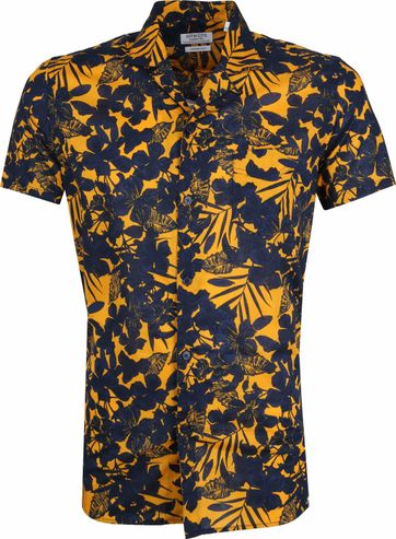 Dstrezzed Shirt Dark Blue Yellow