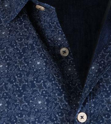 Detail Dstrezzed Shirt Donkerblauw Print