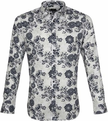 Dstrezzed Shirt Flowers White
